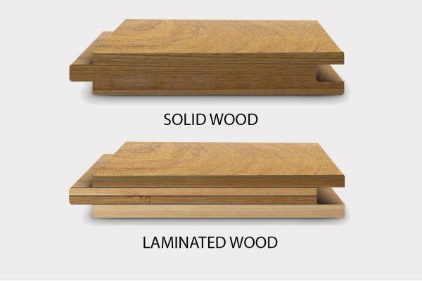 Difference  between solid wood and laminated wood