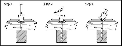 How to use a counter-snap breakaway screw for joist