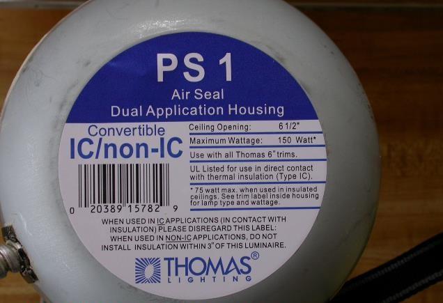 IC-rated lighting seal