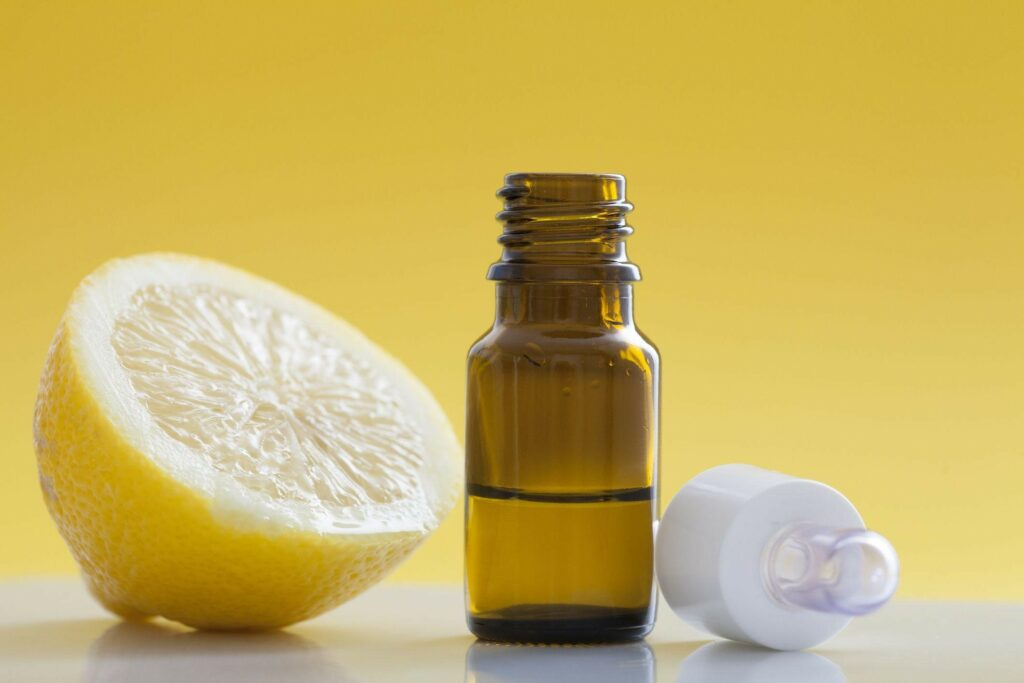 Lemon essential oil can remove crayons on wood