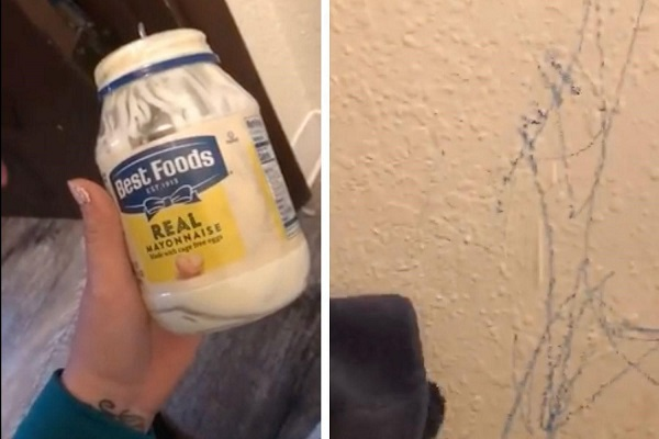 Mayonnaise can remove crayons from wood