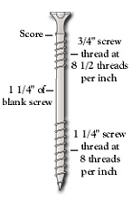 Parts of a counter-snap breakaway screw