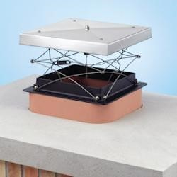 Specialized fireplace damper with rubber seal