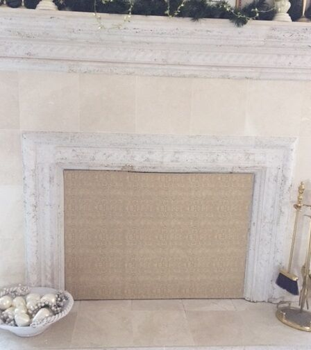 insulated magnetic fireplace cover