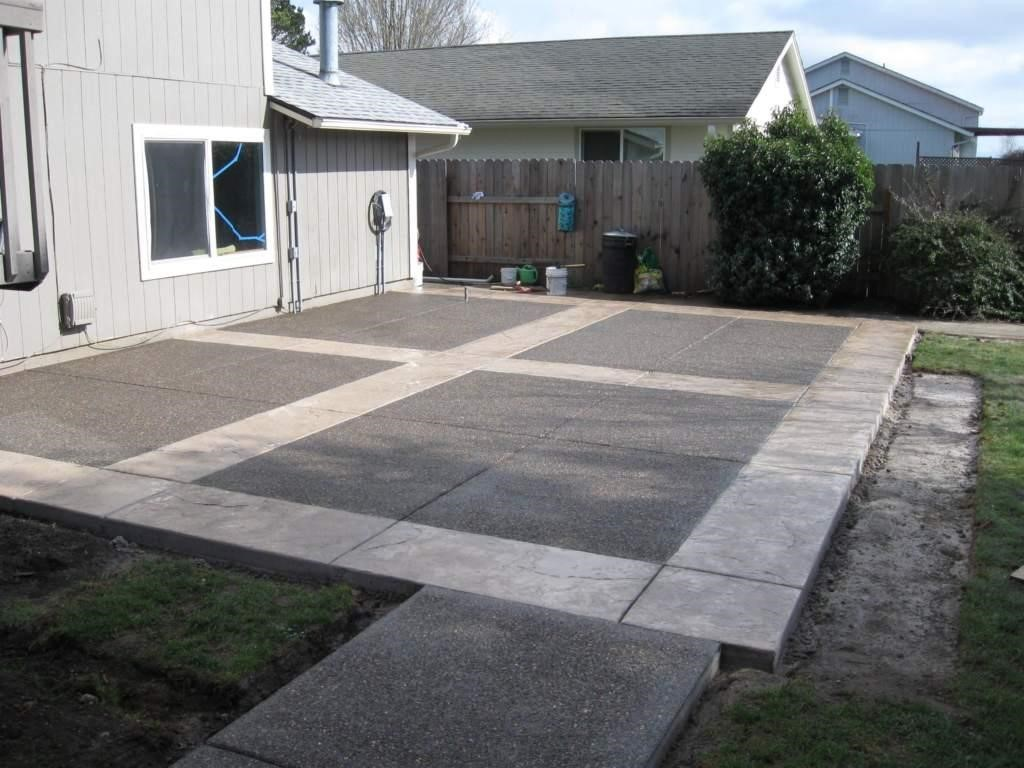 Using concrete to fix muddy backyard dog trail