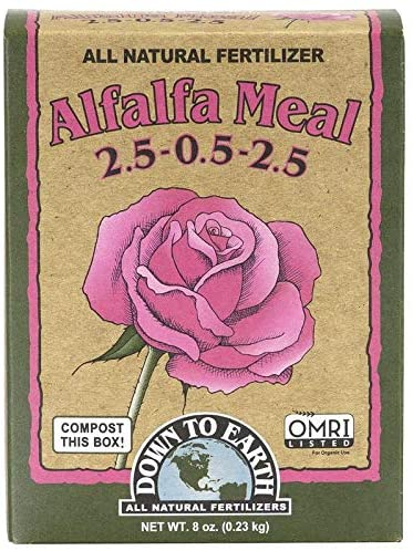 Down to Earth Organic Alfalfa Meal Fertilizer Mix for knockout roses