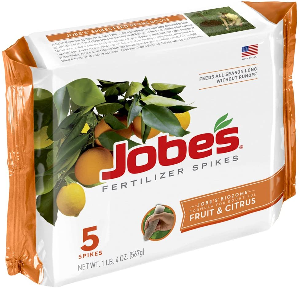 Best fig tree fertilizers - Jobe's Fruit and Citrus Fertilizer Spikes