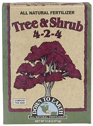 Best fertilizers for arborvitae: Down to Earth All Natural Tree & Shrub Fertilizer Mix
