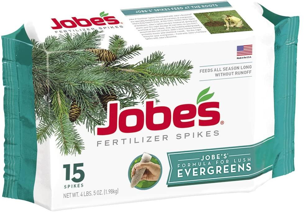 Best fertilizers for arborvitae: Jobe's Evergreen Fertilizer Spikes