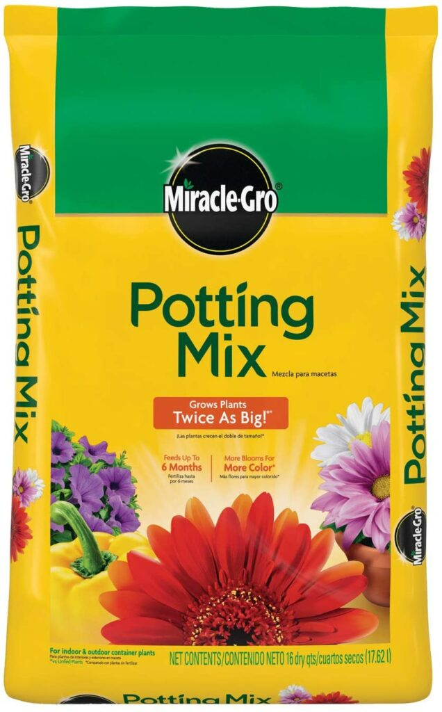 Miracle-Gro Potting Mix for tomatoes