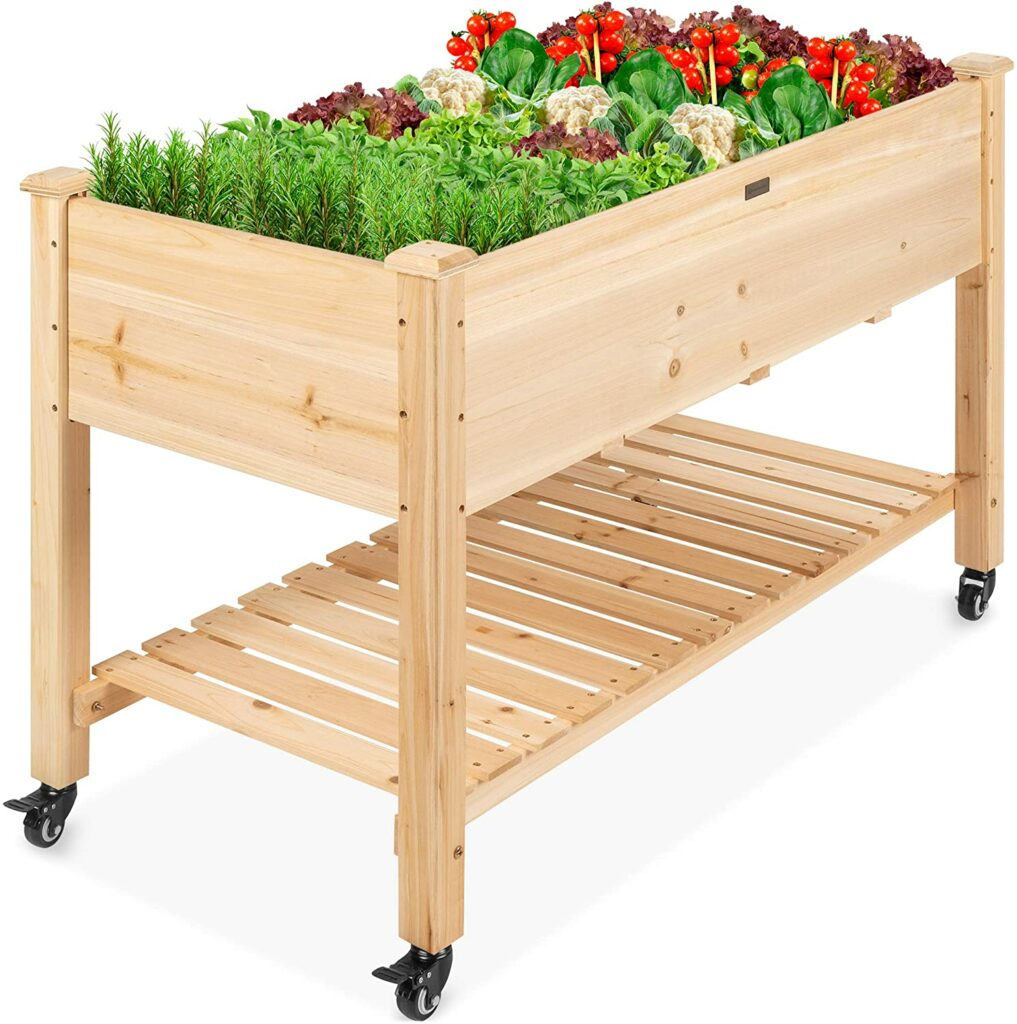 Best Choice Elevated Raised Garden Bed with Lockable Wheels Review