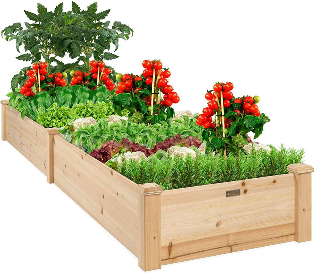 Best Choice Outdoor Wooden Raised Garden Bed (96x24x10in) Review