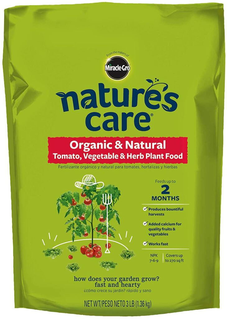 Miracle-Gro Nature's Care Organic & Natural Tomato, Vegetable & Herb Plant Food Review