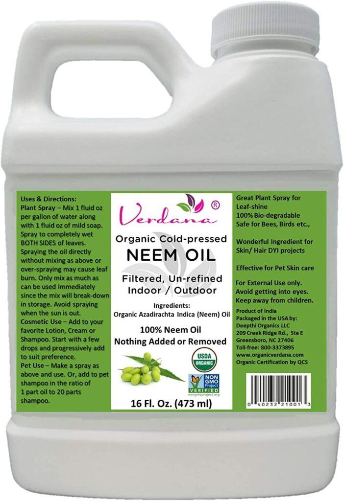 Verdana Organic Cold Pressed Neem Oil Review