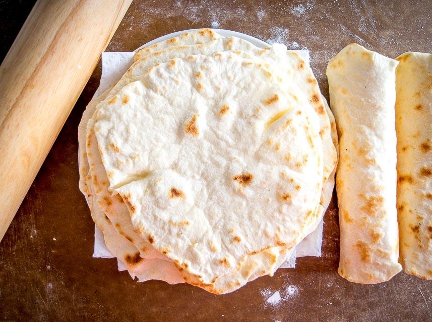 Flour Tortillas Using Olive Oil