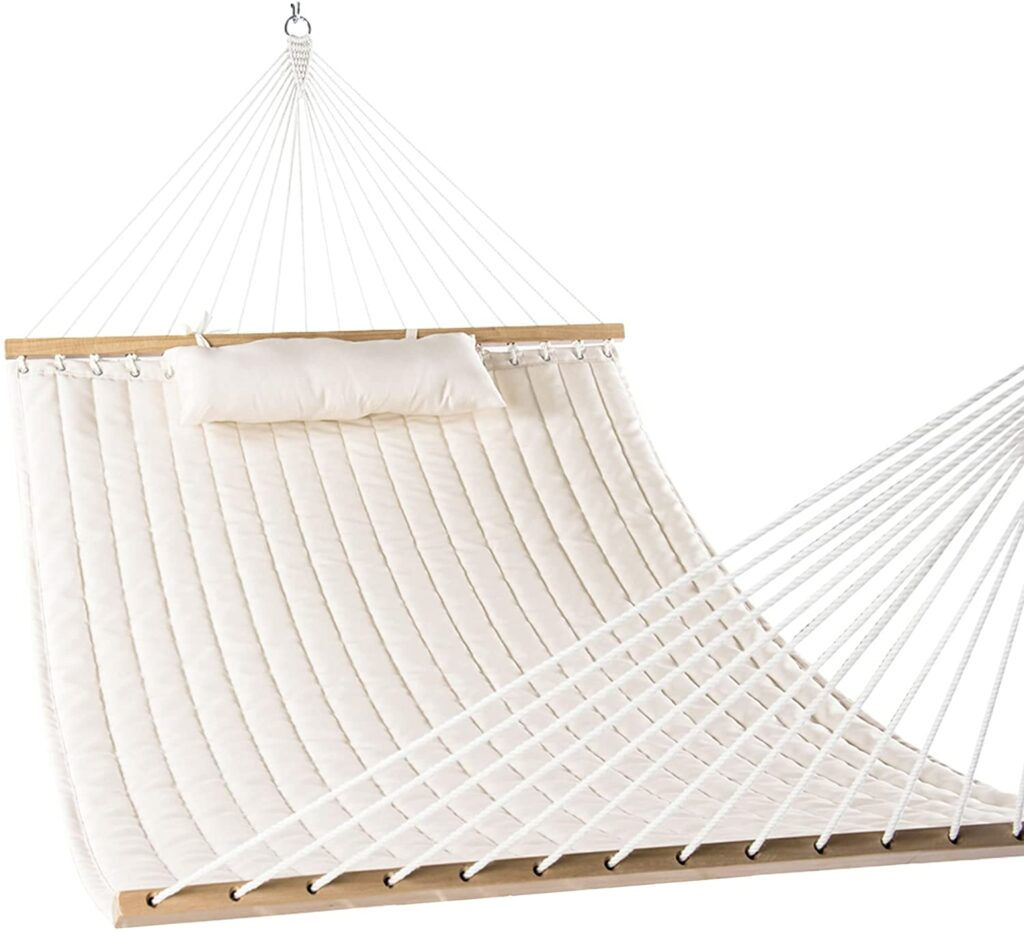 """LazyDaze Hammocks 55"""" Double Quilted Fabric Hammock Review"""