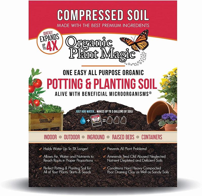 Organic Plant Magic Compressed Organic Potting Soil Review