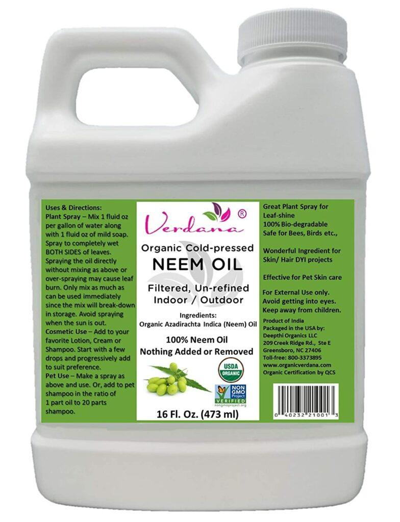 Verdana USDA Organic Cold Pressed Neem Oil Review