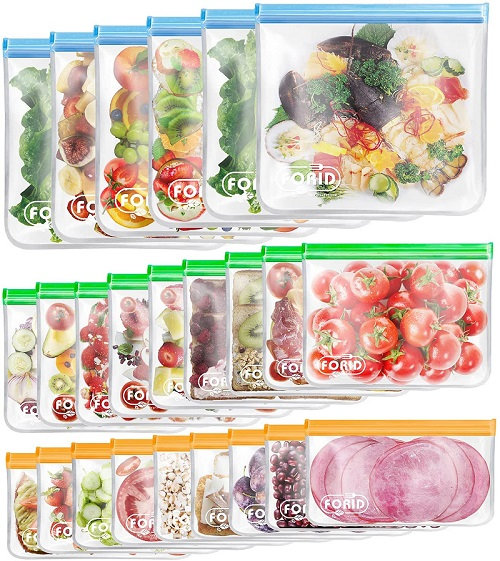 silicone bags for freezer storage