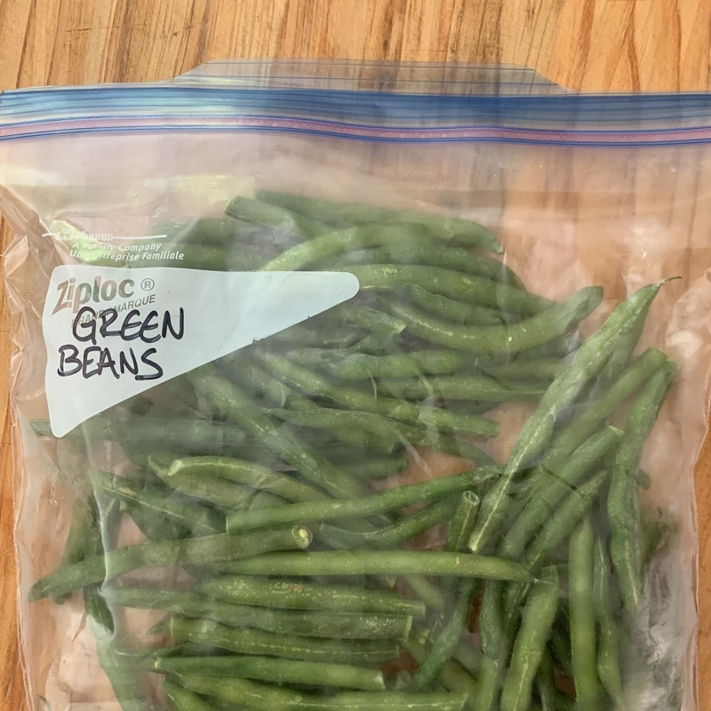 Chilled green beans